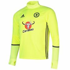 Adidas Chelsea FC Training Top Mens Yellow/Black Football Soccer Shirt