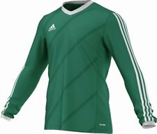 Adidas Football Men Soccer Tabela 14 Long Sleeve Jersey LS Climalite Green ...