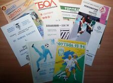 UEFA Cup 1992 - 2000 MATCH PROGRAMMES UPDATED MARCH 2017