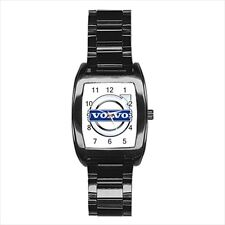 Volvo Car Emblem Barrel Style Watch (Leather & Stainless Steel Straps)