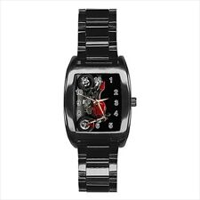 Ducati Motorcycle Barrel Style Watch (Leather & Stainless Steel Straps)