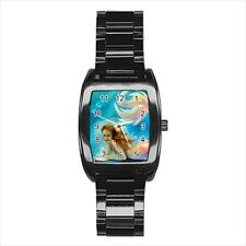 Mermaid Barrel Style Watch (Leather & Stainless Steel Straps)