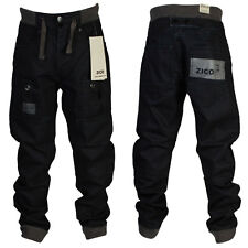 KIDS BOYS DESIGNER BRANDED ZICO CUFFED JEANS RIBBED WAIST SIZE 24 25 26 27 28