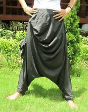 Harem Drop Crotch Baggy Hip Hop Yoga Chic Stretch Cotton Comfy Pants Trousers