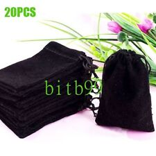 20PCS  Velvet Drawstring Jewelry Necklace Ring Gift Bags Pouches Hot Sale HO GA