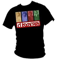 THE DOORS - Jim Morrison retro 1960's music icons mens T-shirt all sizes