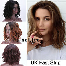 Black Full Wigs Natural Body Wave Lace Front Wigs Heat Resistant Wig Curly UK PE