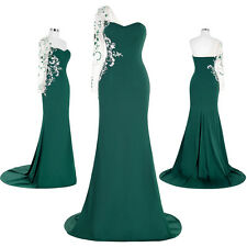 GK One shoulder Floral Bridal Bridesmaid Ball Gown Evening Prom Party Long Dress