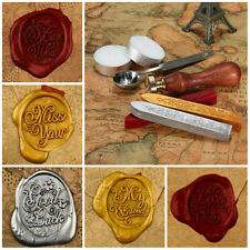 Classic Alphabet Initial Letter Sealing Wax Seal Stamp Luxury Gift Package Set