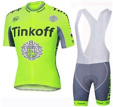 TINKOFF Replica Short Sleeve Cycling Jersey and Bib Short Set Racing Pro