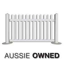 PORTABLE EVENT PICKET FENCING - 2m Temporary Fence | White | Extendable