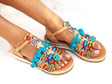 Handmade Sandals, Greek Sandals, Bohemian sandals, Friendships Boho Sandals, Pom