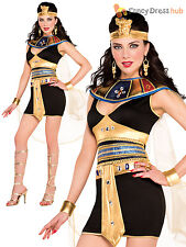 Ladies Sexy Deluxe Queen Cleopatra Egyptian Fancy Dress Costume Womens Goddess