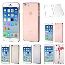 For Apple iPhone 6/6S [4.7] Crystal Hard Snap-On Transparent Case Phone Cover
