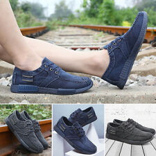 1 Pair Denim Canvas Men 's Casual Sports Low to Help Cloth Korean Lace Up Shoes