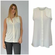 Pretty Ivory Sleeveless Silky Blouse from Next