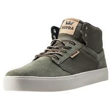 Supra Yorek Hi Mens Trainers Olive New Shoes