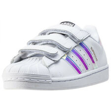 adidas Superstar Cf C Kids Trainers White Silver New Shoes