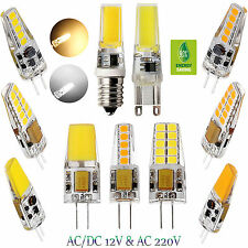 4W 6W 8W Dimmable G4 G9 E14 COB LED Lights Silicone Crystal Lamp Warm White Bulb