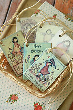 shabby chic East of India printed board BIRTHDAY LOVE GET WELL SOON Gift Tags