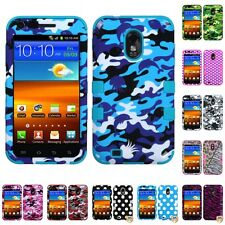 For Samsung Epic Touch 4G D710 Hybrid TUFF IMPACT Phone Case Hard Rugged Cover