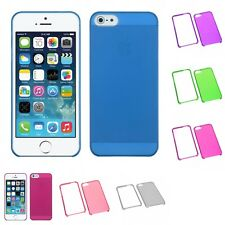 For Apple iPhone 5/5S/SE Crystal Hard Snap-On Transparent Case Phone Cover