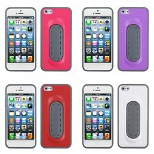 For Apple iPhone 5/5S/SE Hybrid Toungue Kickstand Impact Case Phone Cover
