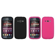 For Samsung Galaxy Prevail 2 M840 Ring Silicone Skin Rubber Soft Case Cover