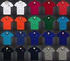 HOLLISTER BY ABERCROMBIE MENS POLO SHIRT SOLID STRIPED SEAGULL MANY STYLES NWT