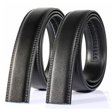 130cm Mens Genuine Leather No Automatic Buckle Strap Waist Belts Waistband Hot