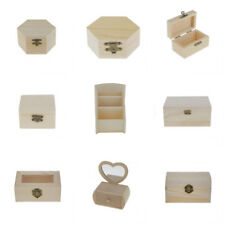 Unfinished Wood Jewelry Boxes for Painting DIY Craft Woodworking Toy Gift Box