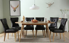Suffolk Oval Oak Dining Room Table & 4 6 Bewley Chairs Set (Brown)