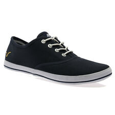 MENS VOI JEANS FIERY NAVY CANVAS PUMPS LACE UP PLIMSOLL TRAINERS SHOES SIZE 6-12
