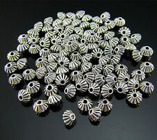 FREE Lots Tibetan silver Biconical Pendant Rondelle Jewelry spacer beads 5MM