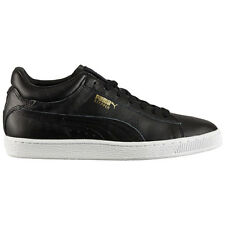 Puma Stepper Classic 357351-01 Men's Leather Shoes Black Sneakers Trainers