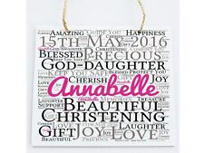Christening Personalised Word Art Plaque