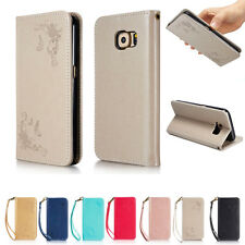 Magnetic Belt Flip Stand Card Leather Case Wallet Cover Skin For Samsung Galaxy