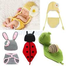 New Baby Boy Girl Crochet Beanie Costume Outfit Set Hat 0-3 Months Photo Props
