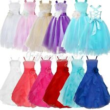 Flower Girl Princess Dress Kids Party Pageant Wedding Bridesmaid Birthday Tutu