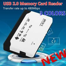 All in 1 USB Card Reader USB 2.0 Memory Card Reader for SD TF CF XD MS Card MP