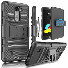 LG Stand Case With Belt Clip Holster Hybrid Shockproof Armor Impact Phone Cover