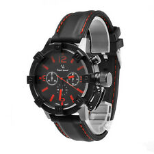 Men's Silicone Casual Sports Muscle Band Analog Quartz Wrist Watch