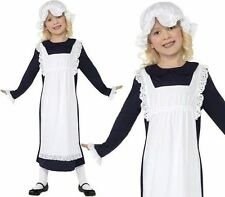 Girls Victorian poor girl fancy dress costume outfit Tudor Maid Book Week childs