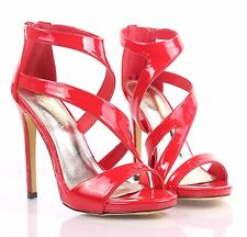 Red Sexy Fashion Strappy Sandals Women Fancy Stiletto High Heels Party Shoes