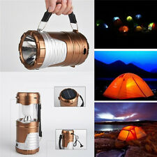 Rechargeable Solar Power Camping Lantern LED Outdoor Tent Lights Flashlight HGUK