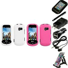 For LG Extravert VN271 Rigid Plastic Hard Snap-On Case Phone Cover Accessories