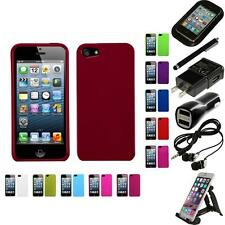 For Apple iPhone 5/5S/SE Snap-On Hard Case Phone Cover Skin Accessory Bundle