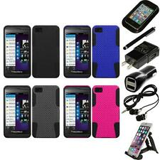 For BlackBerry Z10 Hybrid Rugged Impact Hard Soft Case Phone Cover Accessories