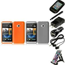 For HTC One M7 Silicone Skin Soft Rubber Case Phone Cover Accessories