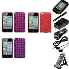 For Apple iPod Touch 4th Gen TPU Rubber Skin Flexible Case Cover Accessories